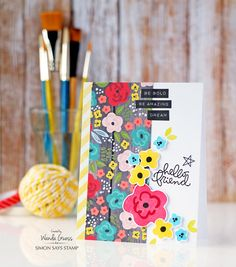 Simon Says Stamp April 2016 Card Kit. Card by Wanda Guess