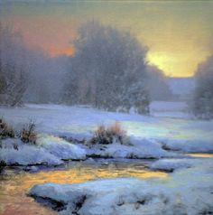"""Michael Godfrey     """"Winter Quiet"""" 6x6"""