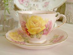 My Favorite Hand Painted Tea Cup!!! Bebe'!!! Really beautiful!!!