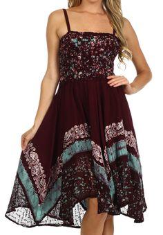 Sakkas Aphrodite Embroidered Batik Dress