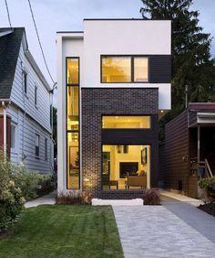 Planos de casa de dos pisos con fachadas e interiores | Construye Hogar #casaspequeñasdospisos