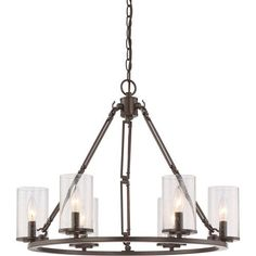 Buchanan Western Bronze Six-Light Chandelier