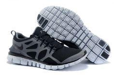 Nike Free 3.0 V3 Hommes Chaussures Balck / gris pas cher en ligne