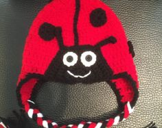 Ladybug Hat  Crochet Ladybug