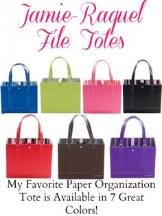 My Favorite Paper Organization Tote! | Optimistic Mommy