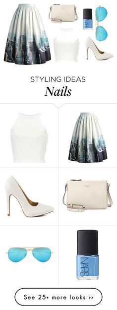 """""""Every day"""" by veera01 on Polyvore featuring Chicwish, Qupid, Kate Spade, NARS Cosmetics and Ray-Ban"""