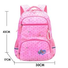 Waterproof School Backpacks for Girls. The casual daypacks are made of lightweight material with soft lining in an adorable look. Waterproof face to protect your stuff from getting wet. Also. come with upgraded shoulder pads and back padded design. Main Material: NYLON Closure Type: zipper Item Weight: 0.75kg Item Height: 43cm Item Width: 17cm Item Length: 30cm Girl Backpacks, School Backpacks, Waterproof School Backpack, Fitness Gadgets, School Bags For Kids, School Essentials, These Girls, Shoulder Pads, Back To School