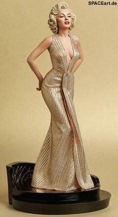 Blondinen bevorzugt: Marilyn Monroe, Statue ... http://spaceart.de/produkte/bdv001.php