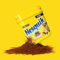 Nesquik new branding / packaging Brand Packaging, Packaging Design, Nesquik, Branding, Graphic Design, Logos, Bff Birthday, Client, Bathroom Ideas