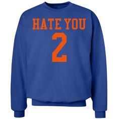 hate you 2 | dark blue and red hate you 2 sweatshirt