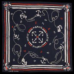 Natic Marine Knots Nautical Print Bandana