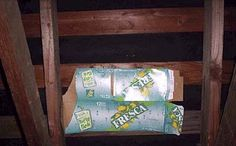 fresca for more than drinking...roof patch!  haha
