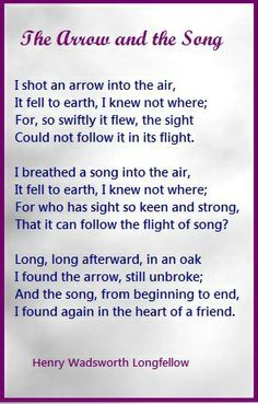 """The Arrow and the Song"" by Henry Wadsworth Longfellow"