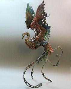 19 animaux fantasmagoriques par Ellen Jewett #Oiseau #Phoenix #Fantastique