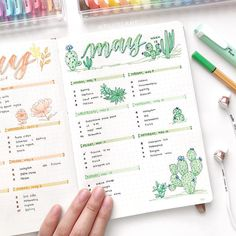 finally got around to post this cactus and succulent inspired spread I've been really busy with tests and exams but school is going to…