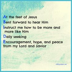 At the feet of Jesus - Abide