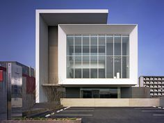 Yamada Clinic, by Matsuyama Architect and associates Factory Architecture, Healthcare Architecture, Office Building Architecture, Industrial Architecture, Minimalist Architecture, Building Exterior, Commercial Architecture, Facade Architecture, Building Design
