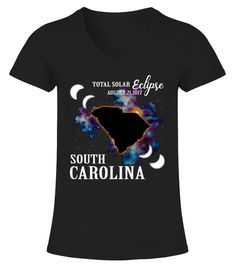 """# South Carolina Eclipse 2017 Tee Shirt .    The solar eclipse of 2017 is happening in America. Get this beautiful graphic tshirt showing ths moon covering the sun, with """"Eclipse 2017"""" overlayed. This is the ideal gift for astronomers or any one who is going to see the totality of the solar eclipse. The path of the total solar eclipse crosses the United States of America on 21 August 2017, make sure you grab this tee to celebrate this magnificent event. Be the envy of your friends with this…"""