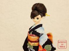 Best Japanese KIMONO dress,Purple kimono,for dolls Jenny,Momoko,Pullip outfit #KIMONOnoMIRAI