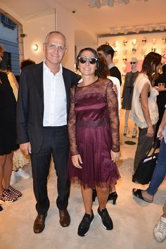 Pietro Negra and Cecilia Negra at #THEPINKOINVASION #sunglasses collection launch event #PINKO #MFW #SS16