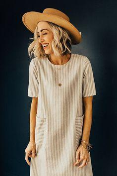 California Stripe Dress   ROOLEE