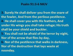 Psalm 91:3-6, Jesus our protector