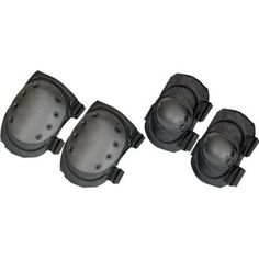Humvee HMV-KEP-B Knee and Elbow Pads Black by Humvee. $27.96. Humvee Gear - Black Knee/Elbow Pads. Model: HMVKEPB. Black 600D polyester with PVC coating, composite anti-skid inner lining and thick foam inside. Durable in all weather conditions. One size fits all with adjustable velcro straps. Large coverage area. Dependable shock resistant rivets. Includes one set of elbow pads and one set of knee pads. Packaged in reuseable mesh bag with drawstring. Color: Black.