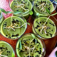Avocado gazpacho... Raw, vegan and oh so delicious.. Retreat food at its best