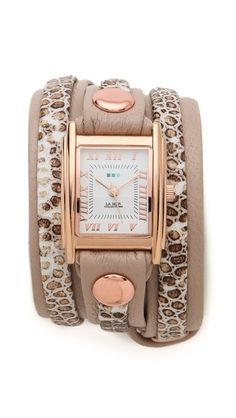 Snake Layered Wrap Watch by La Mer Collections, from Shopbop, $97