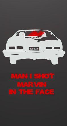 "PULP FICTION | fan art | ""Man, I shot Marvin in the face"" (Vincent Vega) | via http://www.gangsterflick.com/"