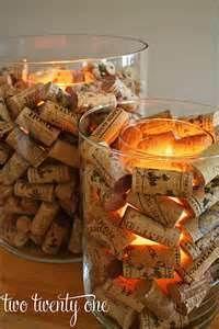 Diy Wine Corks Candle Holder Christmas Decorating Idea