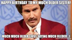 🧔🏼 Celebrate the birthday of your senior with our funniest collection of Birthday Meme, Share your love on all social media! 50th Birthday Meme, Birthday Memes For Men, Sarcastic Birthday, Funny Happy Birthday Meme, 40 Birthday, Birthday Quotes, Sister Quotes Images, Funny Images With Quotes, Happy Birthday Little Sister