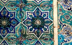 A sample of Persian tile from mausoleum of EmamZadeh Mahroogh, Neishabur, Khorasan [x]
