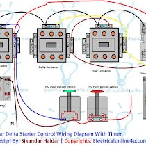 Star Delta Starter Wiring Diagram 3 Phase With Timer Electrical Online 4u Circuit Diagram Electrical Circuit Diagram Circuit