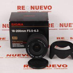 #Objetivo #SIGMA #18-200mm para #Nikon E270873 de segunda mano   Tienda online de segunda mano en Barcelona Re-Nuevo #segundamano