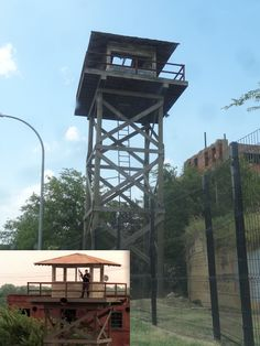 Towers, Utility Pole, Prison, Building, Bunker, Camps, Image, Windows, Signs