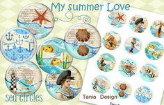 Digital Collage Sheet  My summer Love-VINTAGE SEA от TaniaDesign