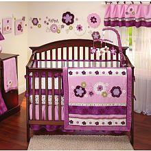 NoJo Pretty in Purple 9-Piece Crib Bedding Set