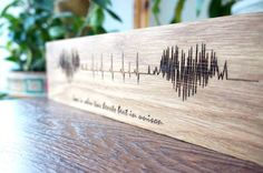 Regalo di San Valentino cuore onda arte SoundWave di LaserBrothers