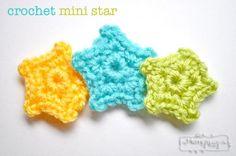 Crochet Mini Star Applique - Free Pattern - My Merry Messy Life
