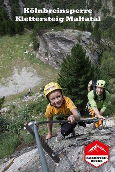 Der Kölnbreinsperre Klettersteig B ist ein idealer Anfänger Klettersteig beim Berghotel Malta an der Malta Hochalmstrasse. Foto: Oliver Derfler / bergansichten.com Malta, Sports, Travel, Ski Trips, Mountain Climbing, Climbing, Hs Sports, Malt Beer, Viajes