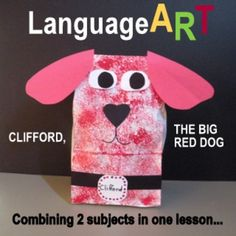 """FREE...http://www.teacherspayteachers.com/Product/Clifford-793864 EVERYONE LOVES CLIFFORD -JUST EVERYONE! And this lesson, """"CLIFFORD, THE BIG RED DOG CRAFTIVITY...AFTER READING THE STORY"""", provides the primary age children with an experience in which art and literature work together. After hearing the teacher read the story of Clifford, the Big Red Dog, and discussing the story, the students will then enjoy a simple cut and paste project."""