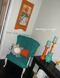 Image result for living rooms with orange, turquoise, yellow and green