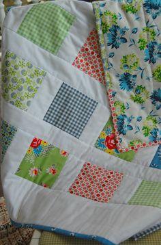happy little cottage: Vintage sheet Quilt