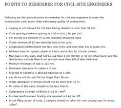 site engineer SHOULD KNW THIS FOR SURE