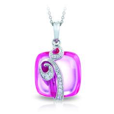 Vigne pink color stone pendant