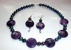 Handmade jewelry  Purple Necklace beaded necklace by DevineEssence, $15.97