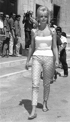 Style Icons #21  Brigitte Bardot circa 1960s. Can't beat cropped trousers and Repetto ballet pumps.