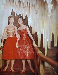 Stalactites and spaghetti straps    From Seventeen, December 1959