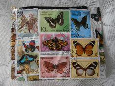 Postage Stamp Purse - Butterflies